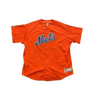 New York Mets Vintage MLB Majestic Baseball Jersey